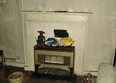 AIB behind Fireplace