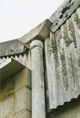 Asbestos Cement Wall and Downpipe