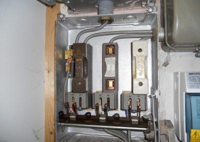 Asbestos Flash Guard in Fuse Box