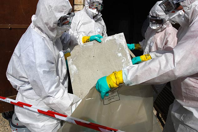 Proper asbestos removal in workplace