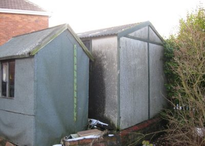 Garden Shed made from Asbestos Cement Sheets